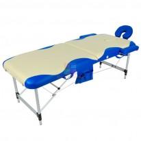 Массажный стол складной алюминиевый с волной JFAL01A (МСТ-002Л) М