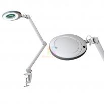 Лампа-лупа LED (48 светодиодов 3 диоптрии) кронштейн серый ободок M