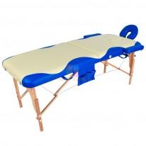 Массажный стол складной деревянный JF-AY01 2-х секционный с волной (МСТ-003Л) М