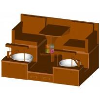 Педикюрный СПА-комплекс на 2 рабочих места M