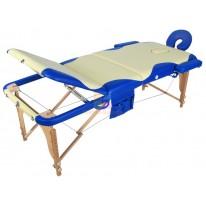 Массажный стол складной деревянный JF-AY01 3-х секционный с волной (МСТ-103Л) М