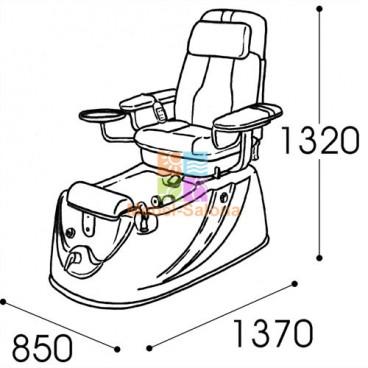 Кресло педикюрное спа-комплекс Ontario  M